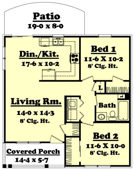 casa 79 metros cuadrados Plano 1er piso