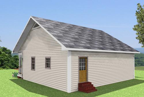Vista casa 3D trasera