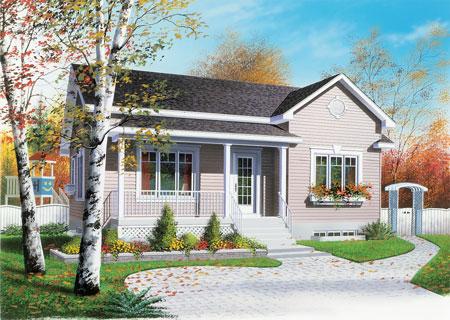 Casa estilo canadiense de 1 piso y 3 dormitorios - Casas americanas interiores ...