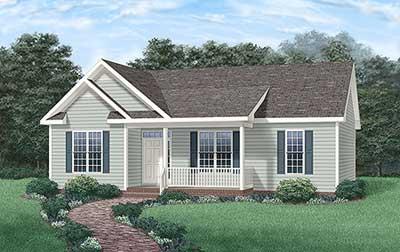 Plano de casa tradicional de 1 piso y 3 dormitorios for Casa clasica procrear 1 dormitorio