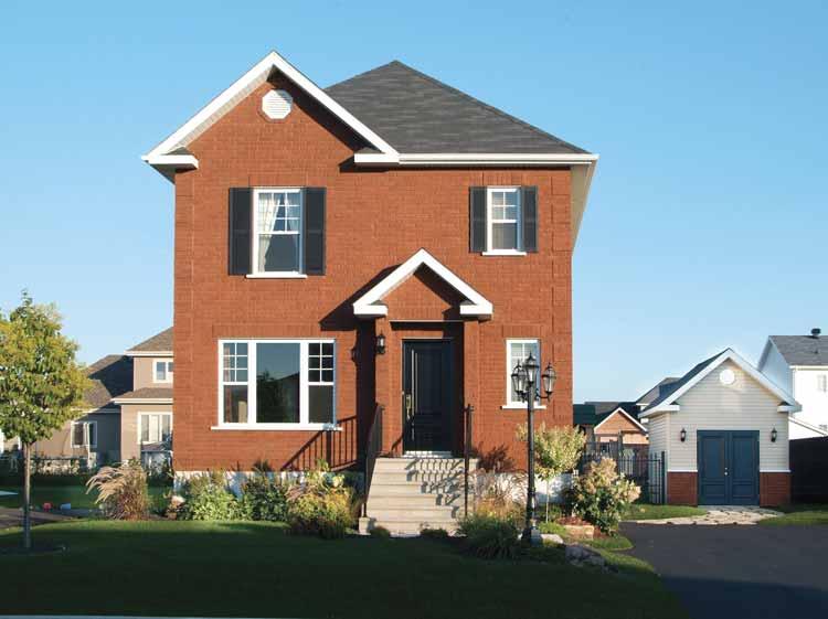 Plano de casa estilo europea de 2 pisos for Casas reducidas