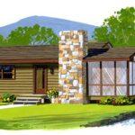 Plano de casa de 68 metros cuadrados – 1 piso – Estilo rural