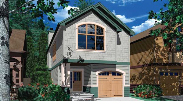 Plano de casa para espacios peque os for Diseno de casas angostas