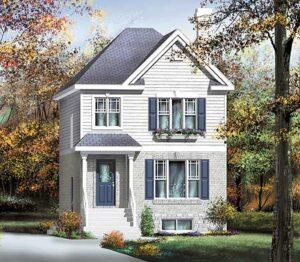 Plano de casa americana de 2 pisos for Casas estilo americano interiores