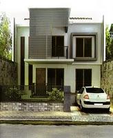 Plano de casa peque a y moderna for Casa moderna 8x20