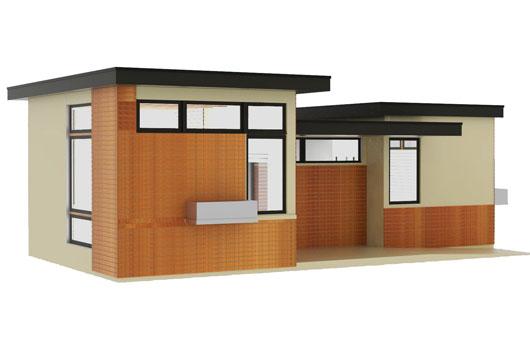 Plano de casa peque o y moderno - Casas de 50 metros cuadrados ...