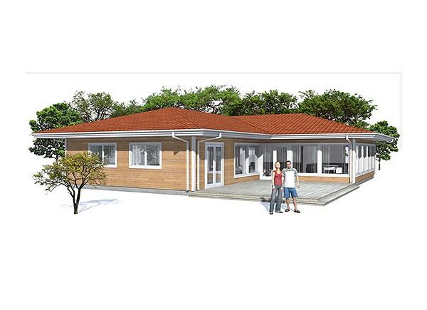 Plano de casa de 1 piso y 170 metros cuadrados for Planos de casas de un piso gratis