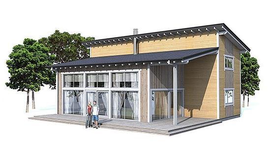 Plano de hermosa casa moderna de 140 metros cuadrados for Casa moderna 50 metros cuadrados