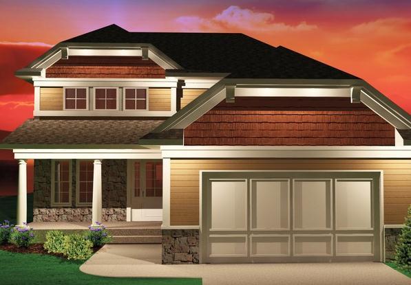 Plano de casa estilo americano de 174 metros cuadrados for Casas estilo americano