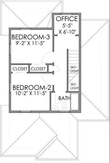 Plano de casa hermosa de 117 metros cuadrados for Planos para segundo piso