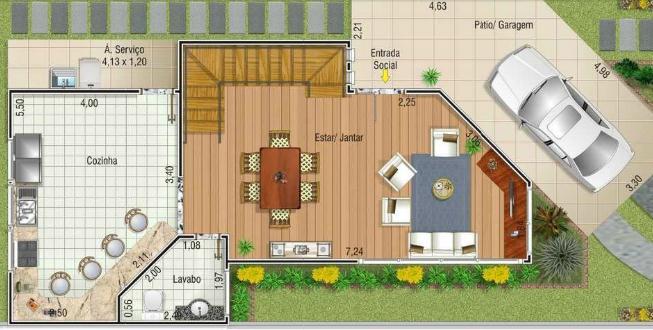 Plano de casa de 2 pisos 3 dormitorios y 167m2 - Distribuciones de casas modernas ...
