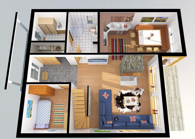 Plano de casa de 2 pisos y 150 metros cuadrados for Planos de casas de 2 pisos