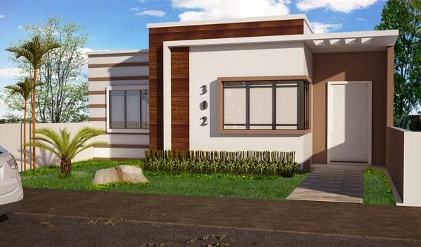 Plano de casa mediterr nea 3 dormitorios 68 m2 for Casas modernas 120m2