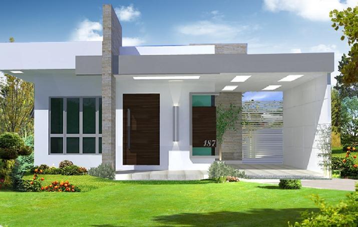 Plano de casa mediterr nea de 93 m2 y 3 dormitorios for Casa minimalista un nivel