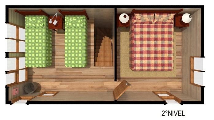 plano de casa angosta segundo nivel