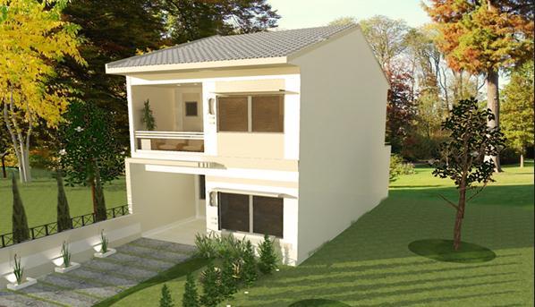 Plano de casa de 2 pisos y 106 m2 for Piso en urbanizacion alcorcon ii