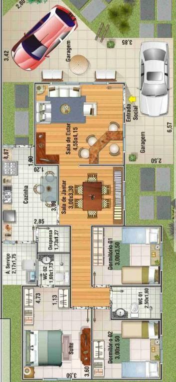 Plano de casa grande de 3 dormitorios - Planos de casas grandes ...