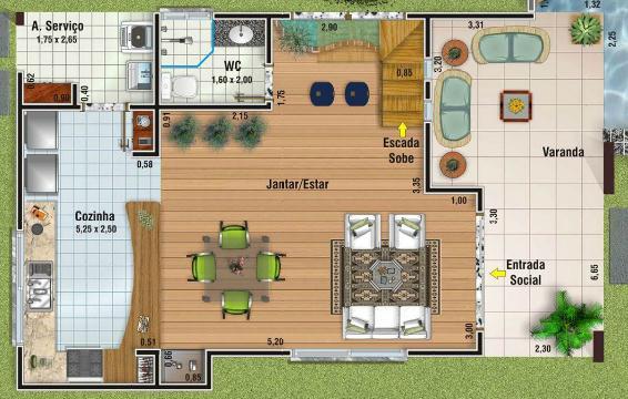 Plano de casa grande de 156m2 y 3 dormitorios for Plano casa un piso