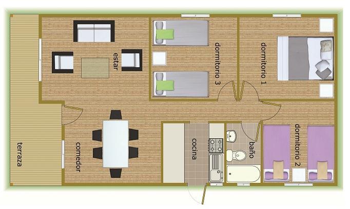 plano 66 m2