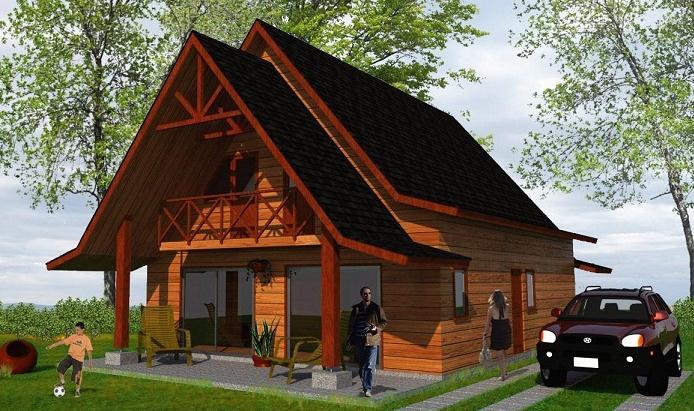 Dise o de casa prefabricada de madera - Disenos casas de madera ...