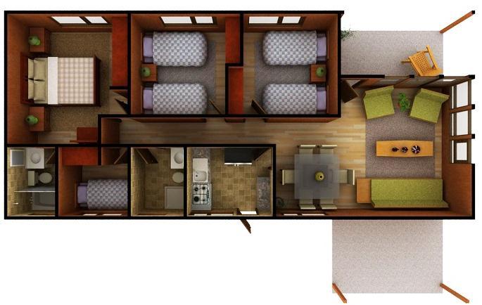Fotos de casa con planos prefabricada de un piso for Planos de casas de campo de un piso