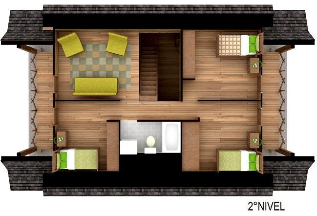 Dise o de casa prefabricada de madera for Planos para segundo piso
