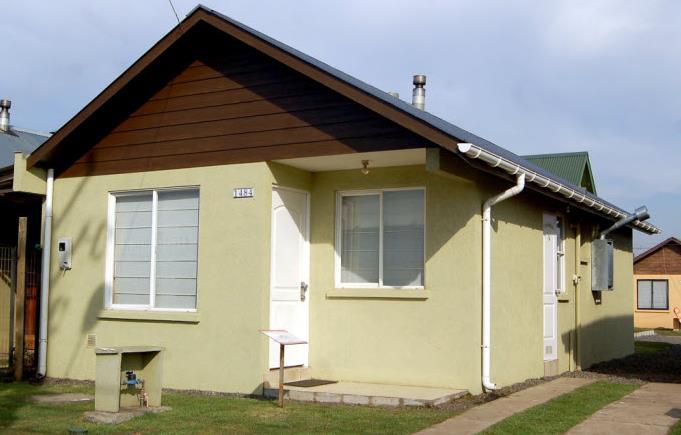 Plano de vivienda de 3 Dormitorios, 2 Baños (56 m²).