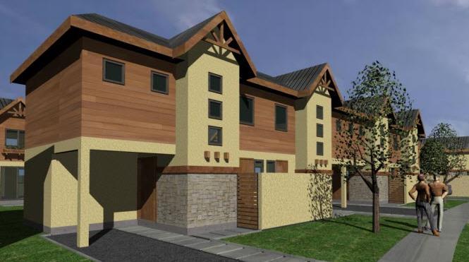 Plano de casa pareada de 75 metros cuadrados - Planos de casas pareadas ...