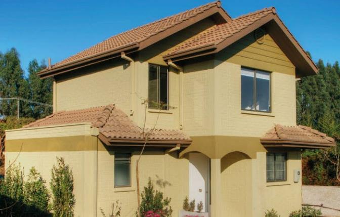Mini Of Plano >> Plano de casa grande de 3 dormitorios y 2 pisos