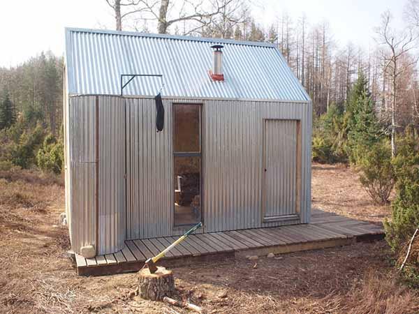 Micro cabaña: una cabaña muy pequeña y cómoda
