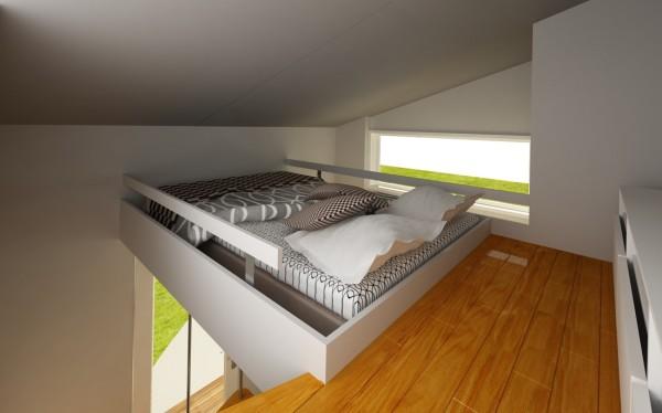 Plano de mini casa de dos pisos de 3 x 3 mtrs Apartamentos con altillo