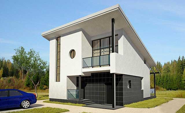Plano de casa grande y moderna de mas de 100 m2 for Casa moderna 60 m2