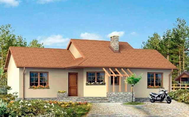 Plano de casa bonita de campo y con terraza for Como construir una casa de campo