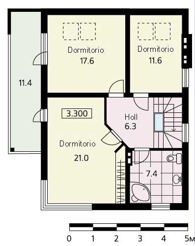 Plano de casa de campo grande y moderna - Vivir en un segundo piso ...