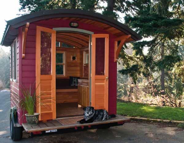 Micro oficina o casa rodante muy peque a for Bar rodante de madera