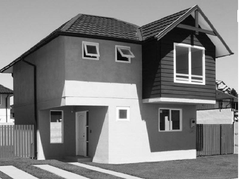 Plano de casa de dos pisos 80 m2 Planos de casas 80 mts2