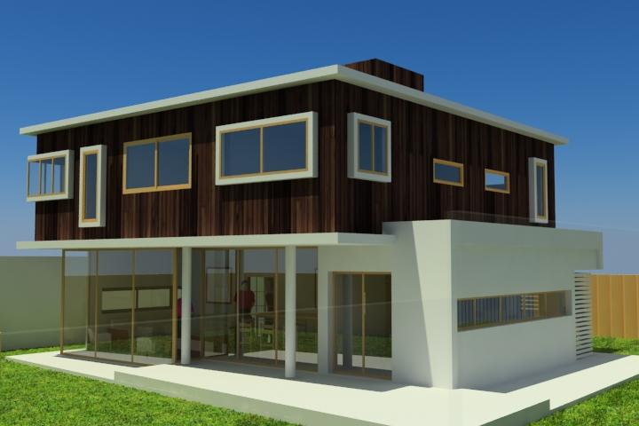 Plano casa de dos pisos 140 m2 for Modelo de casa segundo piso