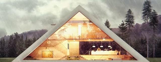 Casa con forma de pirámide