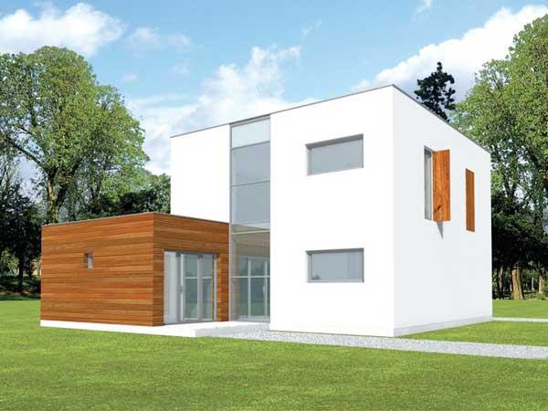 Plano de casa moderna de 2 pisos for Planos de viviendas modernas