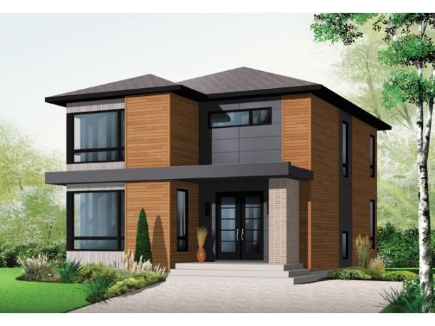 Plano grandiosa casa de dos pisos de 298 m2 - Ideas para fachadas de casas ...