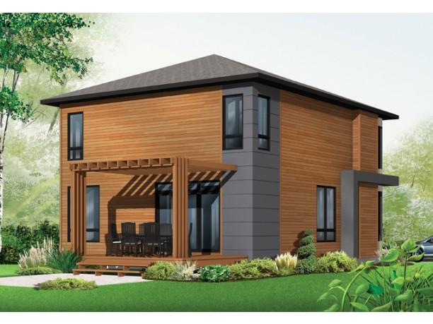 Plano grandiosa casa de dos pisos de 298 m2 for Casas modernas y economicas para construir