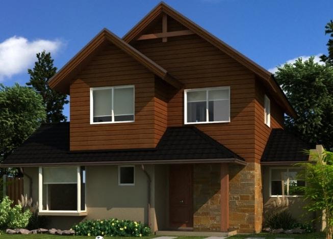 Plano casa dos pisos con 4 dormitorios y tres ba os de 122 m2 for Modelos de techos para casas de dos pisos
