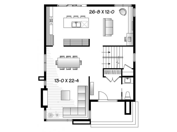 Plano grandiosa casa de dos pisos de 298 m2 for 28x36 cabin plans