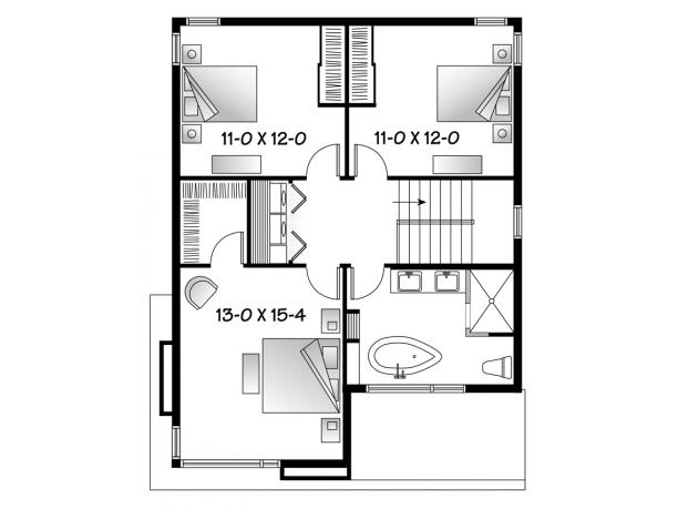 Plano grandiosa casa de dos pisos de 298 m2 Planos de segundo piso
