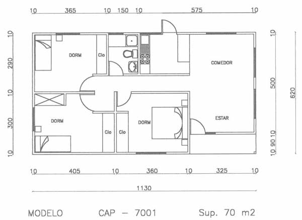 Plano de caba a de 70 m2 super simple y barata for Planos de casas 80 mts2