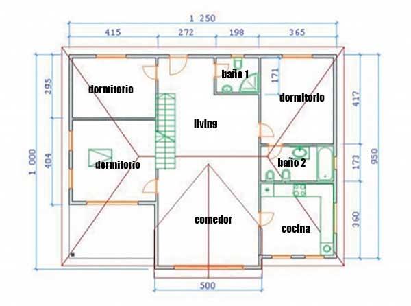Plano de casa construida en madera - Planos de casas de 100 metros cuadrados ...