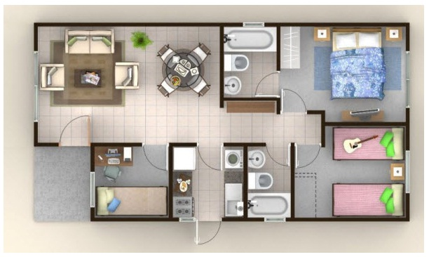 planos de casas para niños