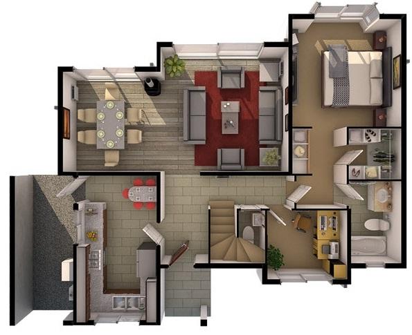 planos de casas de dos pisos cuatro recamaras