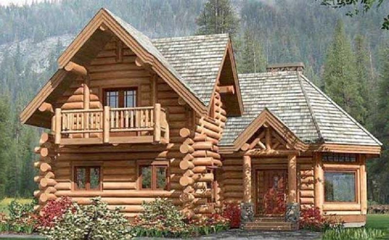 Planos de caba a con rollizos de madera de 160 m2 - Vivir en un segundo piso ...