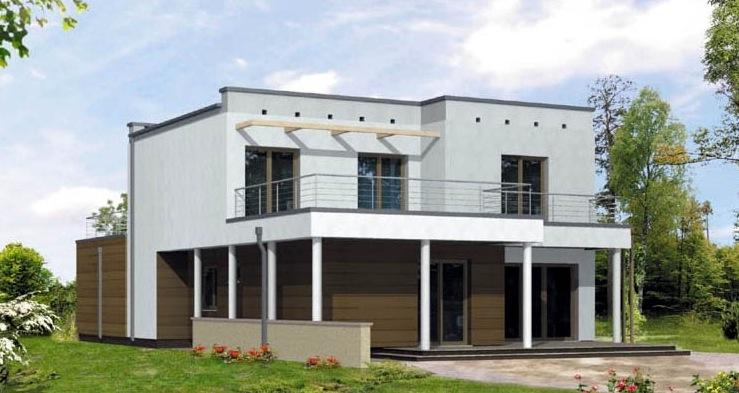 Plano de casa grande for Casa moderna 50 metros cuadrados